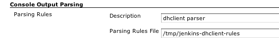 Configured Parsing Rules